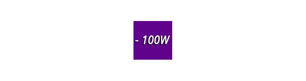 0 to 100W